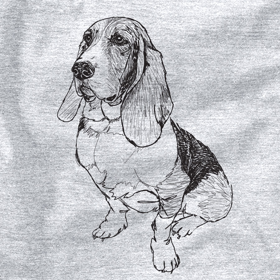 Doodled Pearl the Basset Hound