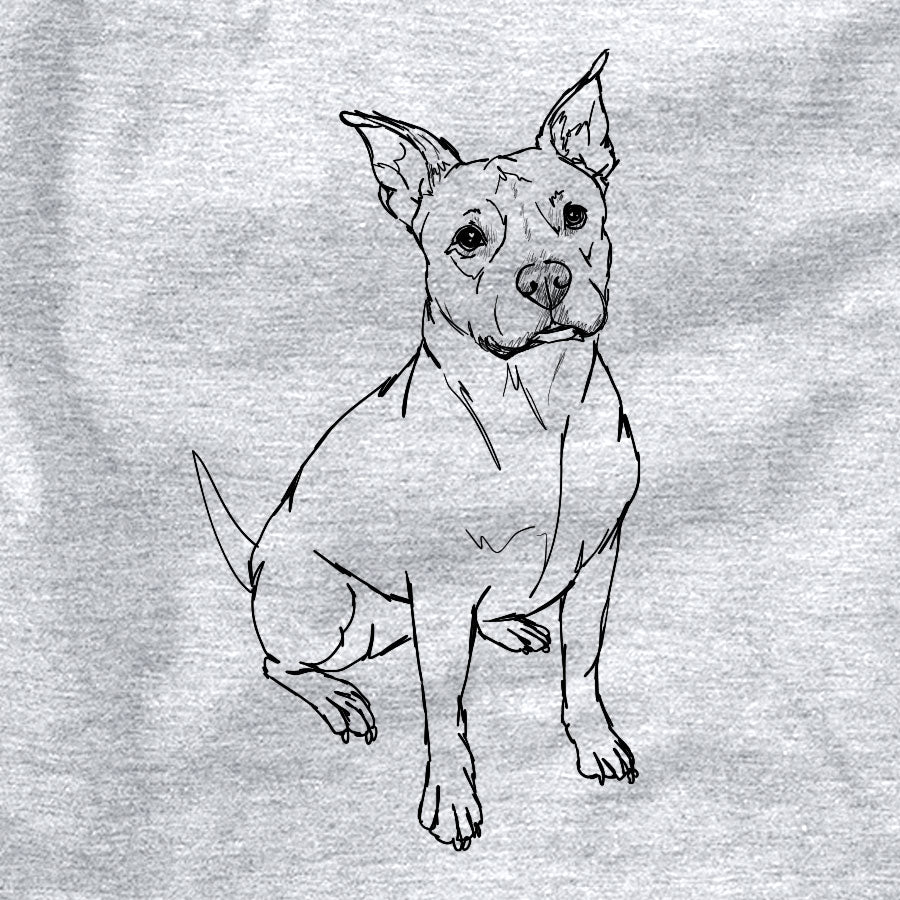 Doodled Tater Tot the American Staffordshire Terrier