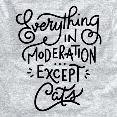 Everything in Moderation - Except Cats