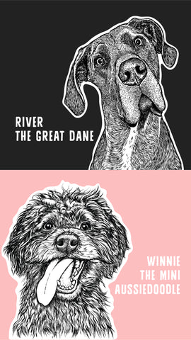 Inkopious Dog Model Contest - River & Winnie