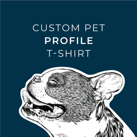 Your Pet Profile Sketched and on a Shirt!