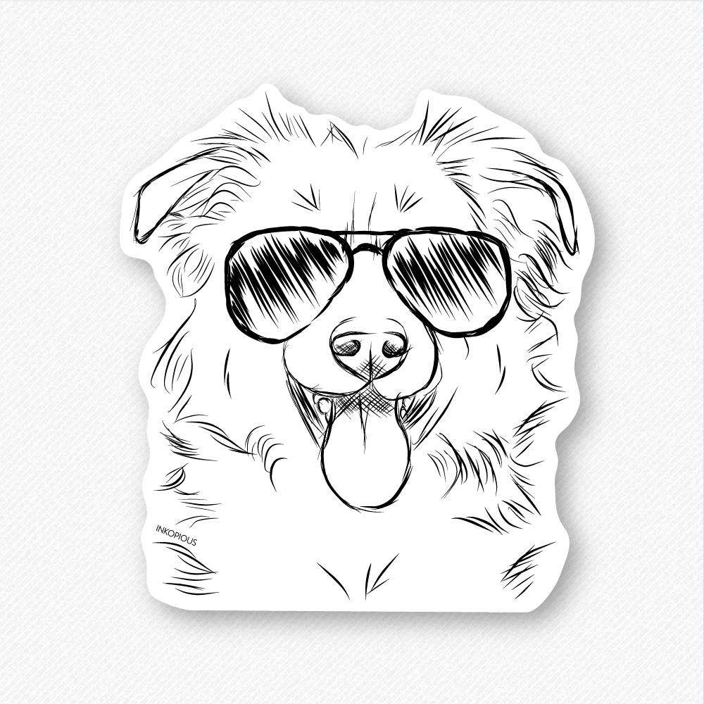 Tucker the Border Collie/Shepherd - Decal Sticker