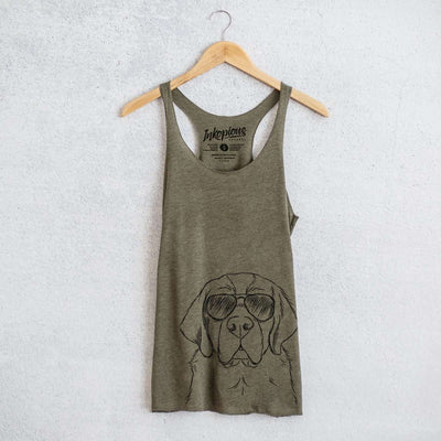 Barry the Saint Bernard - Tri-Blend Racerback Tank