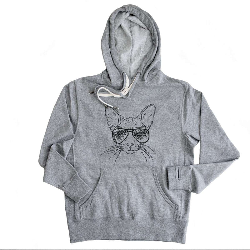 Sammy the Sphinx Cat - Grey French Terry - Unisex Slim Fit