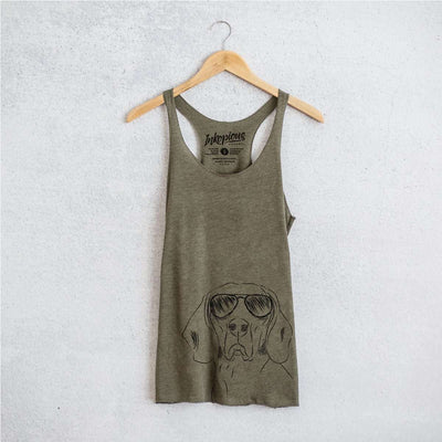 Sagan the Coonhound - Tri-Blend Racerback Tank Top