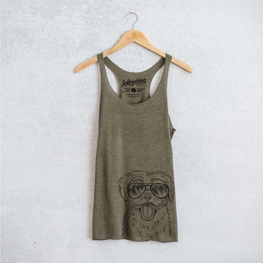 Gizmo the Maltese - Tri-Blend Racerback Tank Top