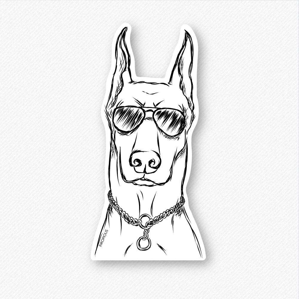 Ace doberman pinscher decal sticker