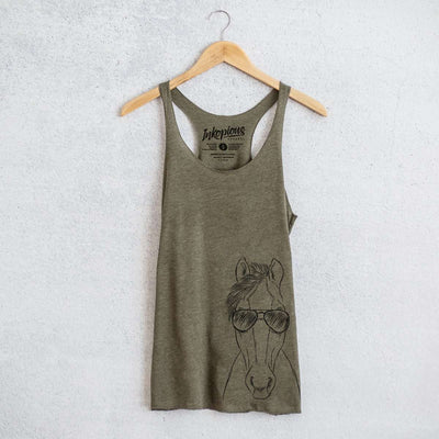Rio the Horse - Tri-Blend Racerback Tank Top