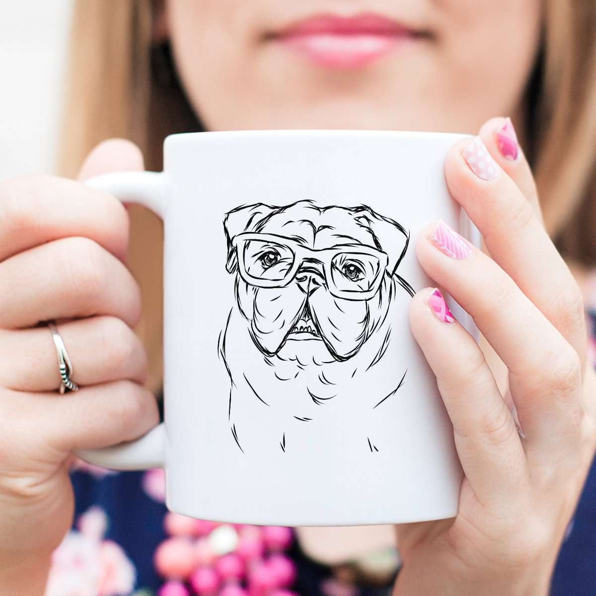 Oliver the Nerd Bulldog - Mug