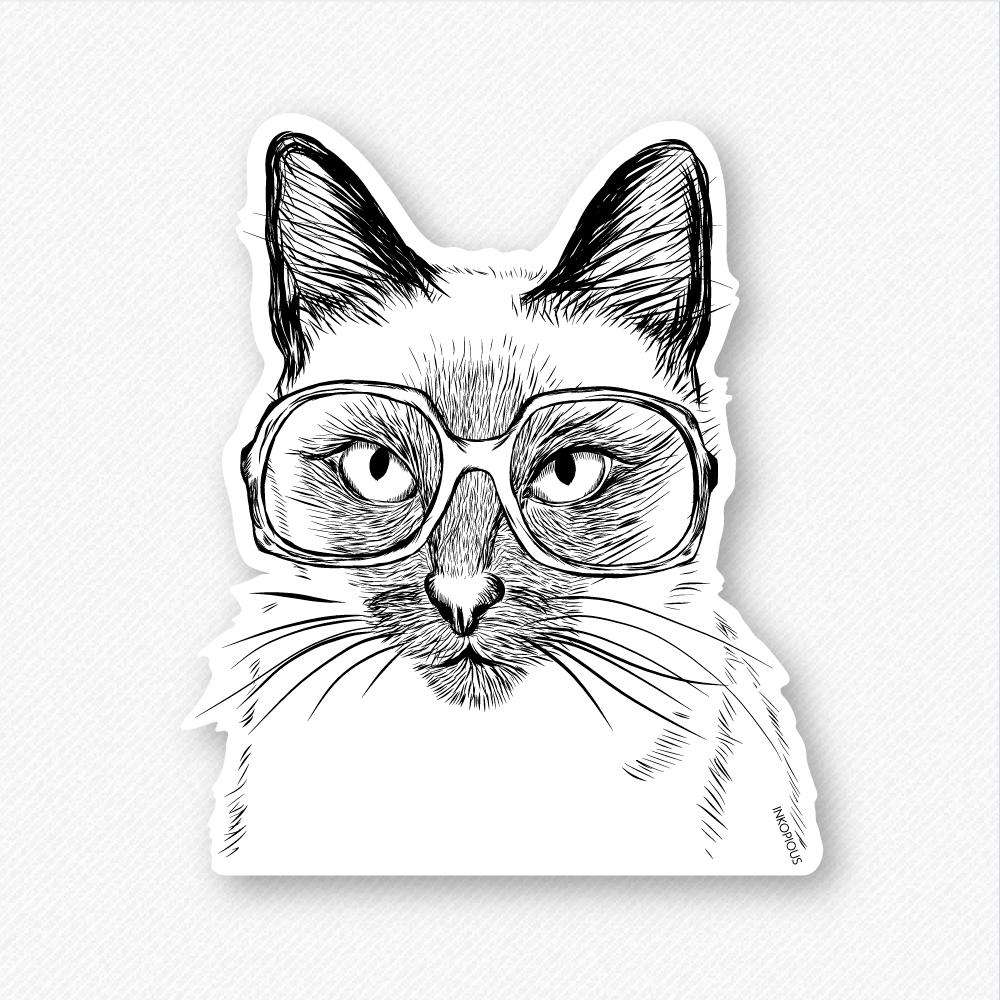 Sasha the Siamese - Decal Sticker