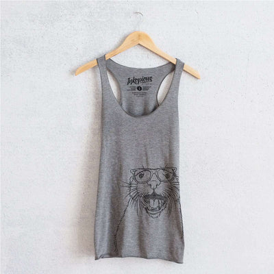 Jasper the River Otter - Tri-Blend Racerback Tank