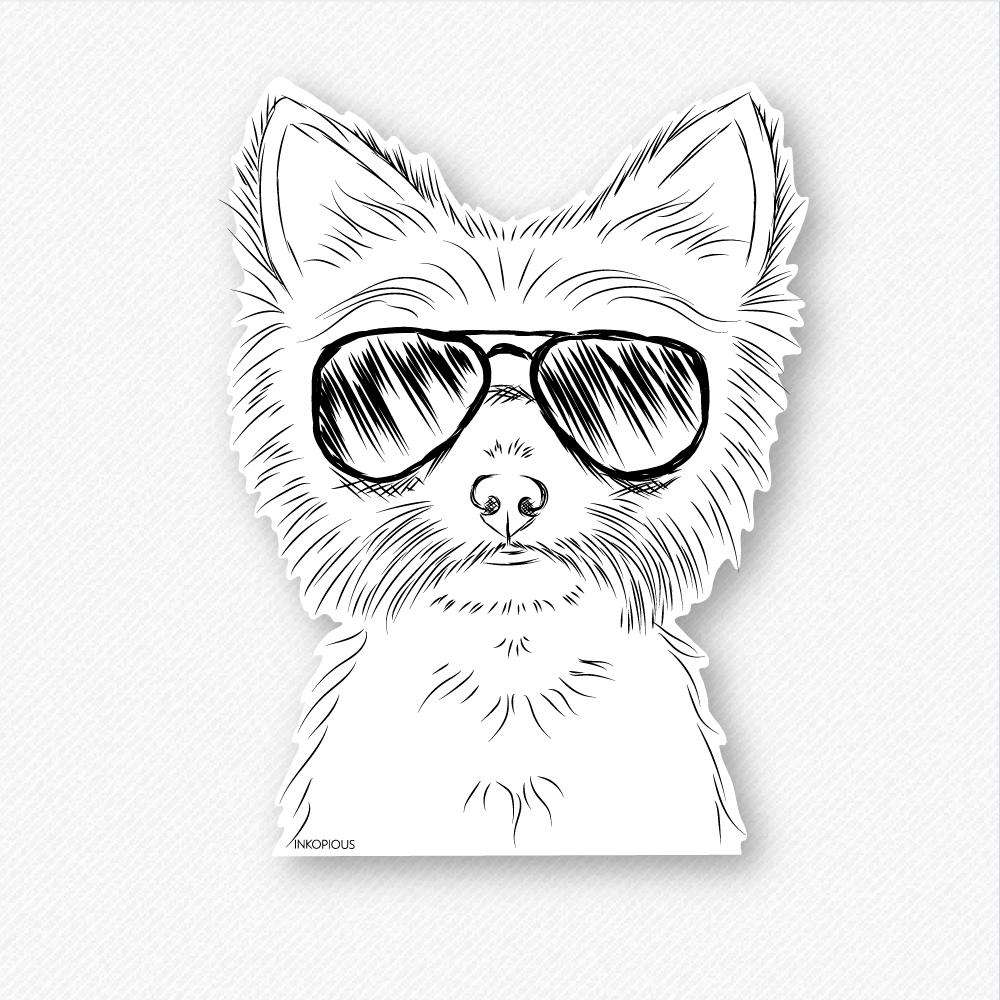 Farva - Yorkie - Decal Sticker