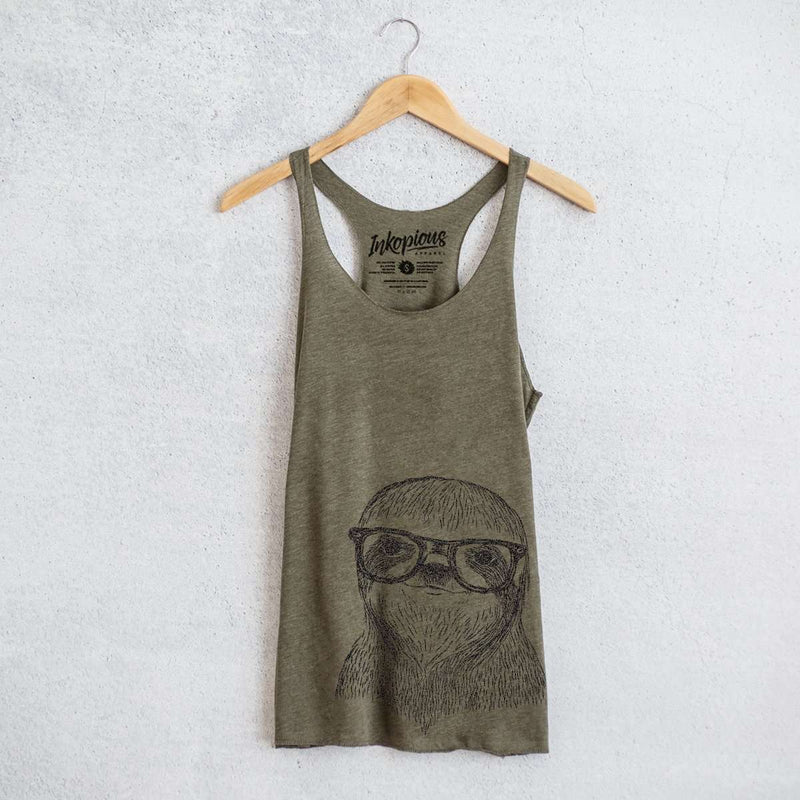 Sidney the Sloth - Tri-Blend Racerback Tank