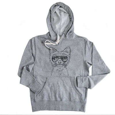 Farva the Yorkie - Grey French Terry Hooded Sweatshirt
