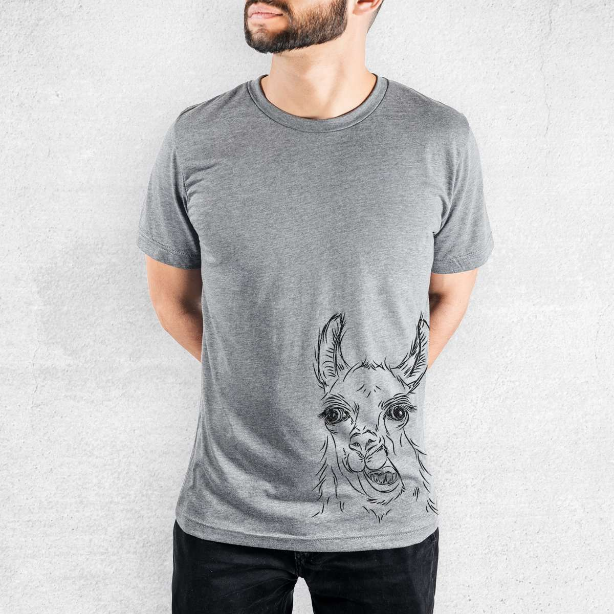 Larry the Llama - Tri-Blend Unisex Crew Shirt