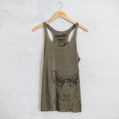 Jett the Bull Terrier - Tri-Blend Racerback Tank