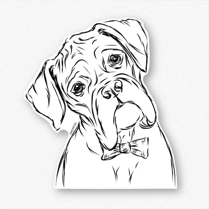Cooper - Bow Tie Boxer - Decal Sticker