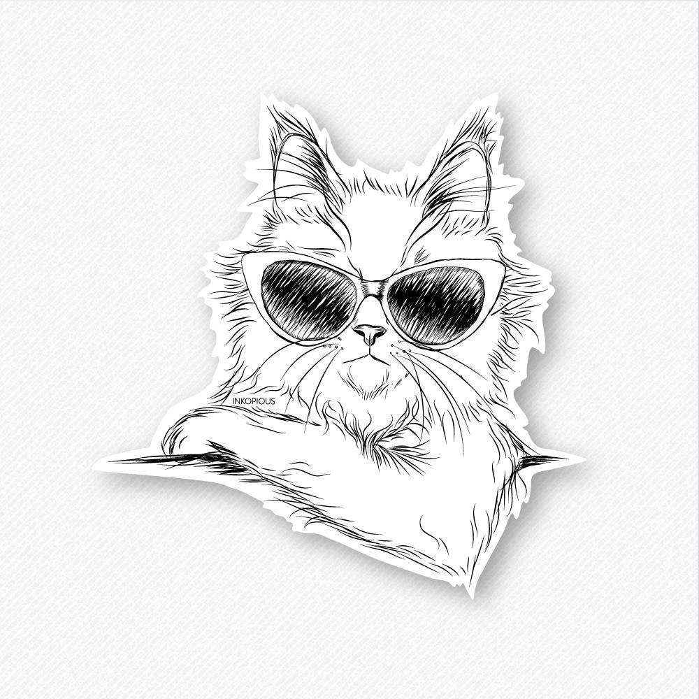 Ginger the Maine Coon - Decal Sticker