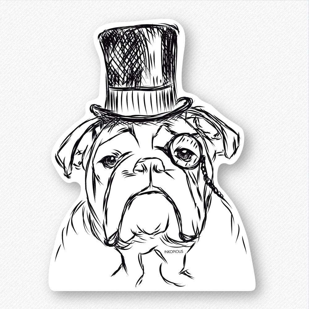 Winston - English Bulldog - Decal Sticker