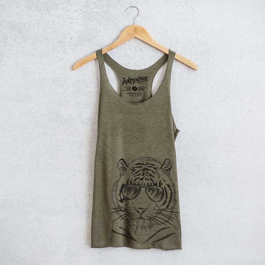 Taz the Tiger - Tri-Blend Racerback Tank