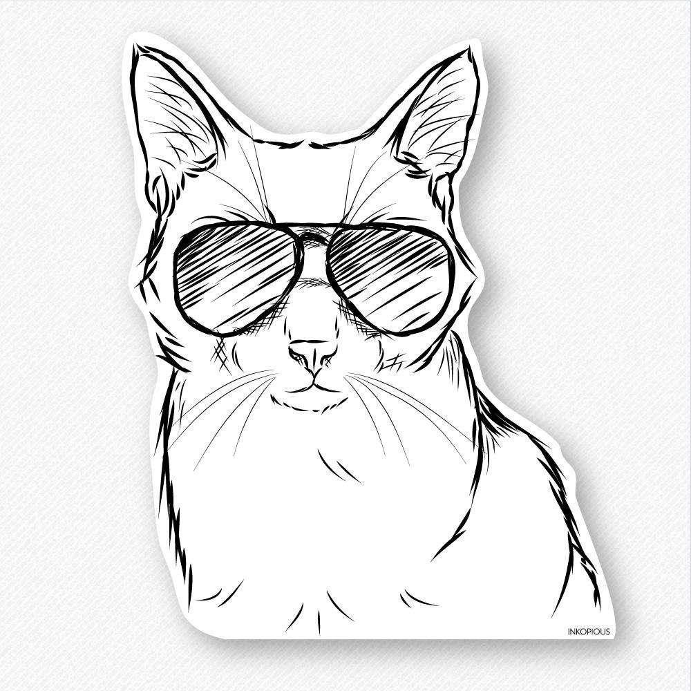 Maverick - Cat - Decal Sticker
