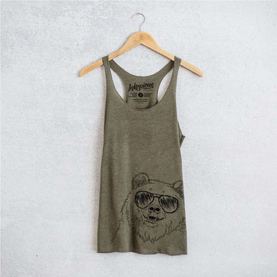 Grizz the Bear - Tri-Blend Racerback Tank Top