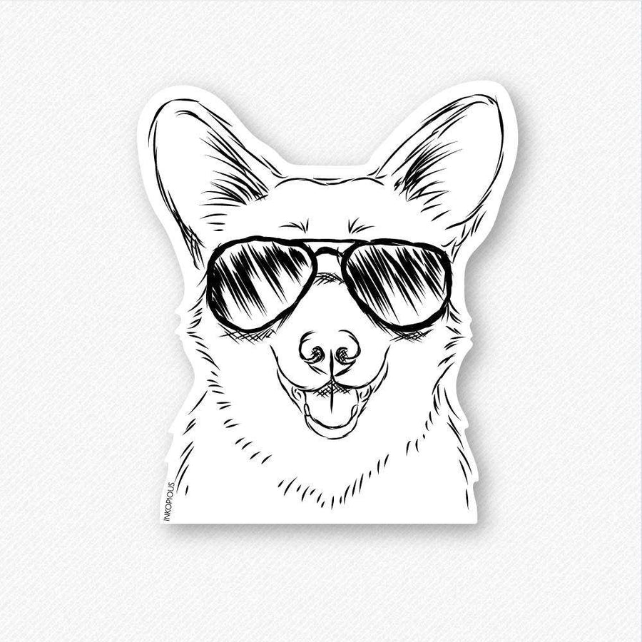 Ricco Corgi Aviators - Decal Sticker