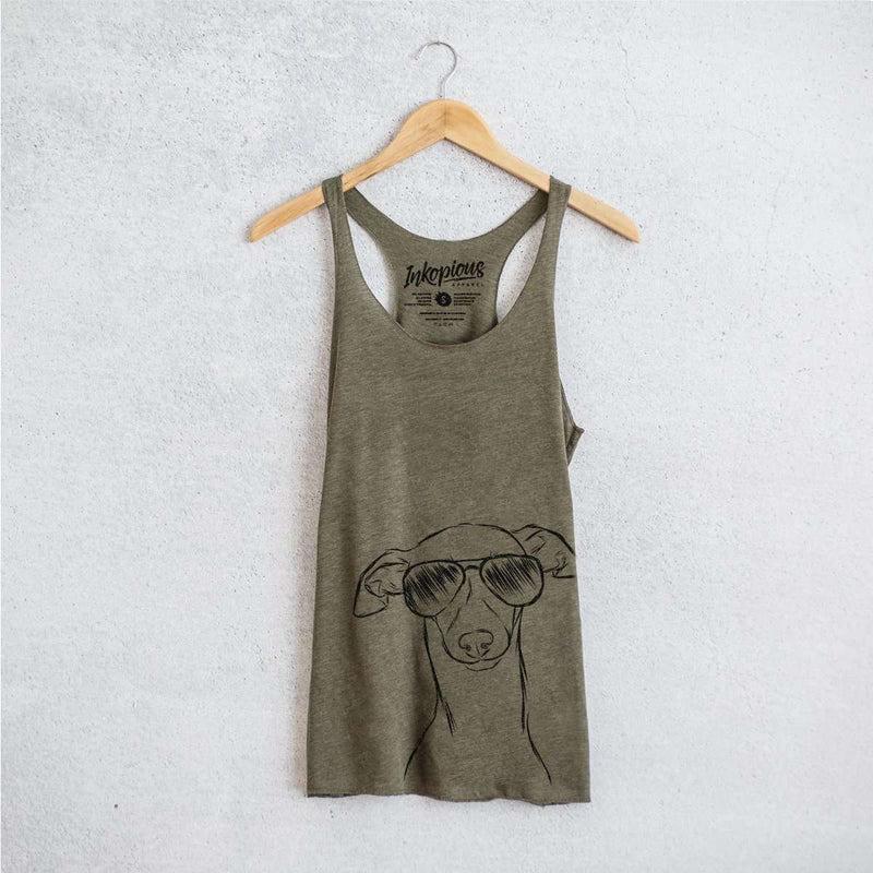 Ziggie the Italian Greyhound / Whippet - Tri-Blend Racerback Tank