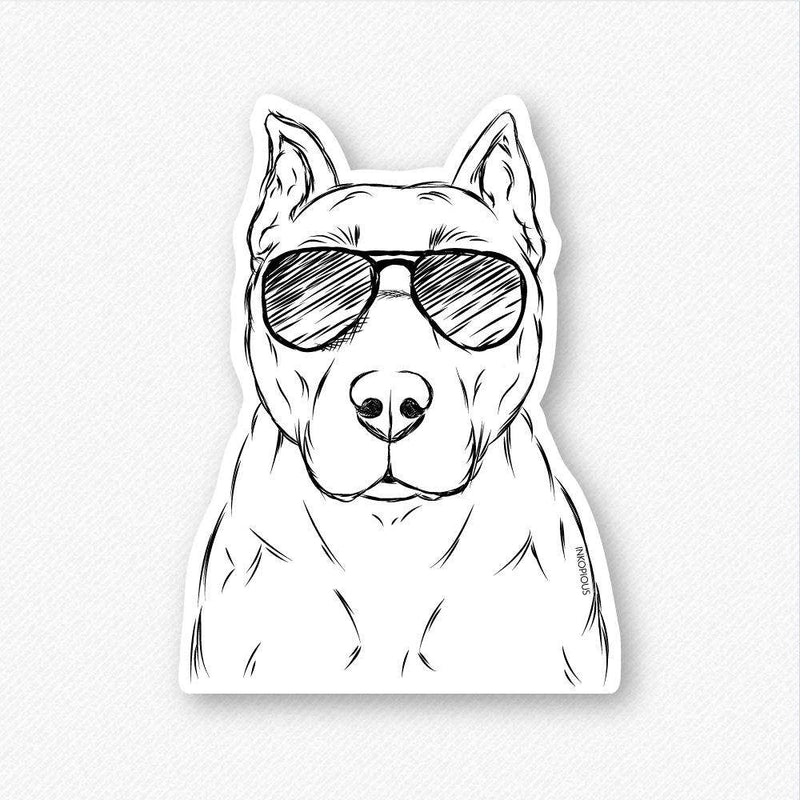 Bane the Staffordshire/Pitbull - Decal Sticker