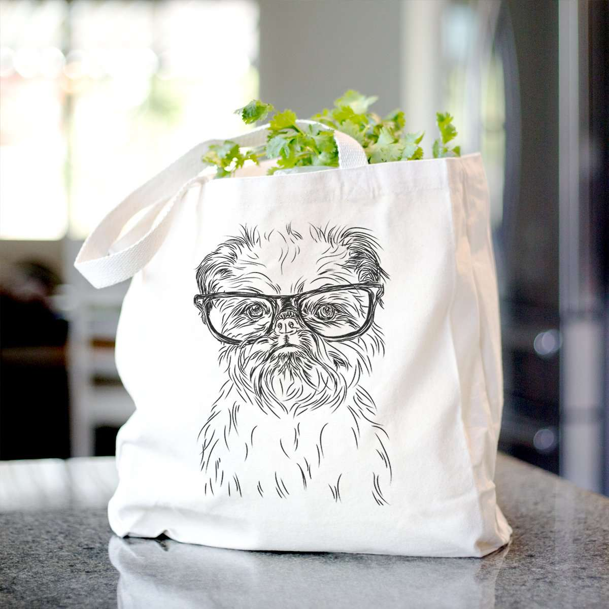 Digby the Brussels Griffon - Tote
