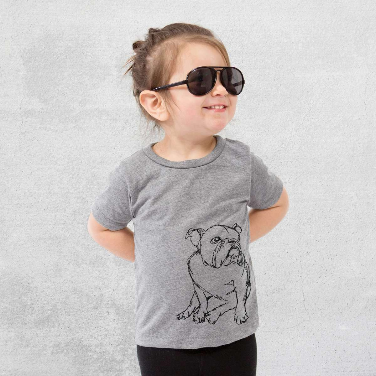 English Bulldog - Doodled - Kids/Youth/Toddler Shirt