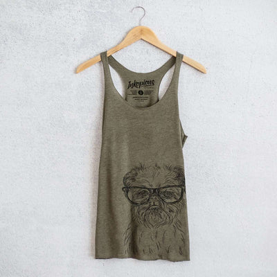 Digby the Brussels Griffon - Tri-Blend Racerback Tank