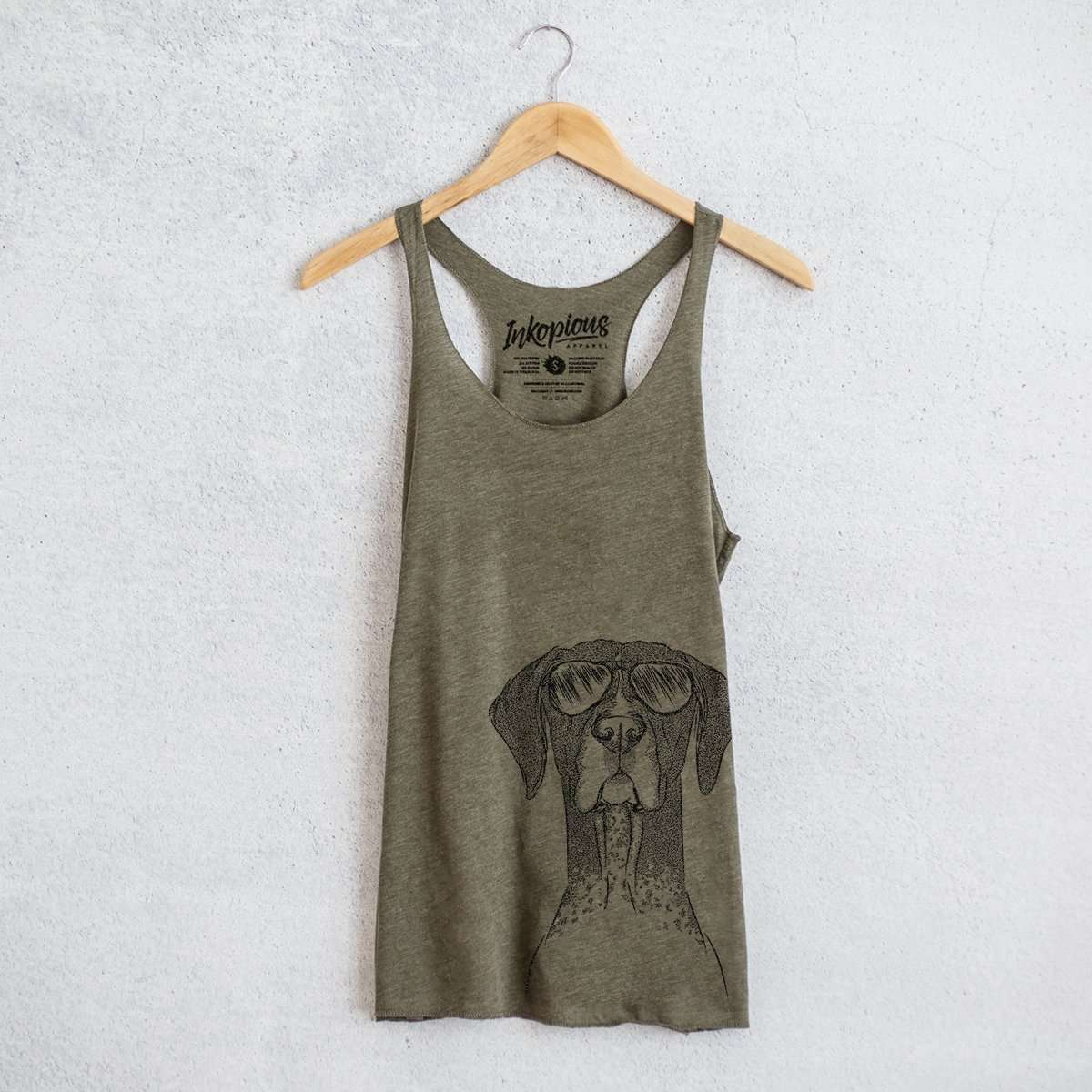 Mattis the German Shorthaired Pointer - Tri-Blend Racerback Tank Top