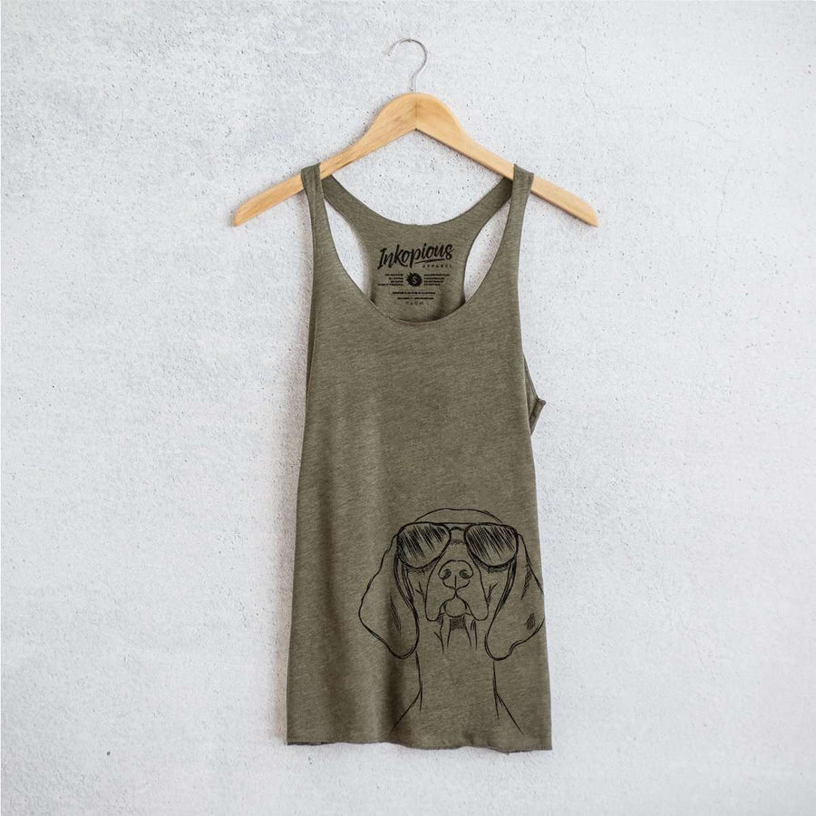 Sawyer the Vizsla - Tri-Blend Racerback Tank Top