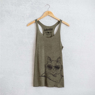 Ginger the Maine Coon - Tri-Blend Racerback Tank Top