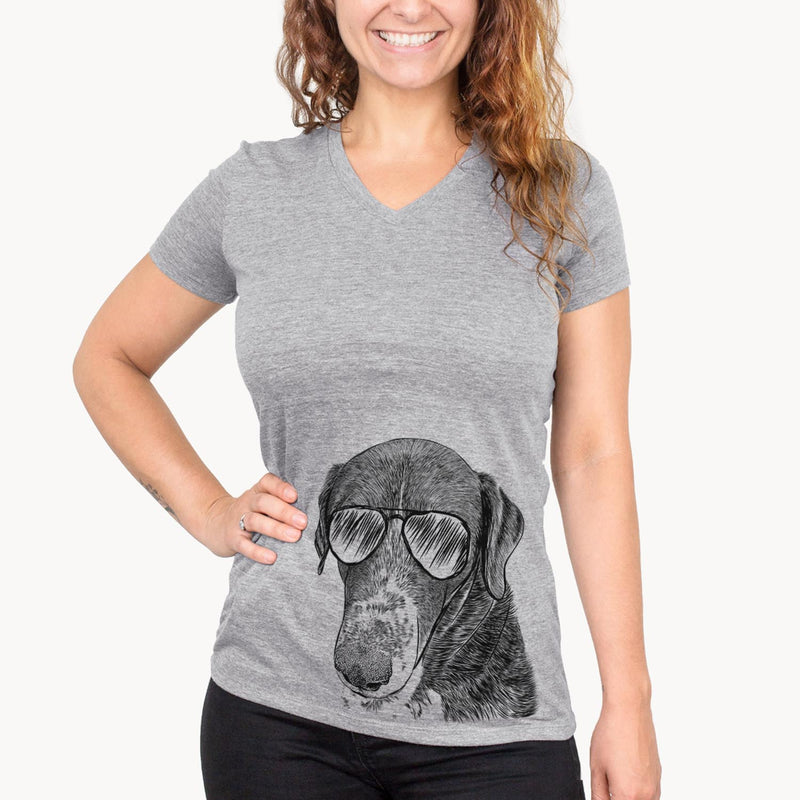 Angel Orion the Mixed Breed - Women's Modern Fit V-neck Shirt