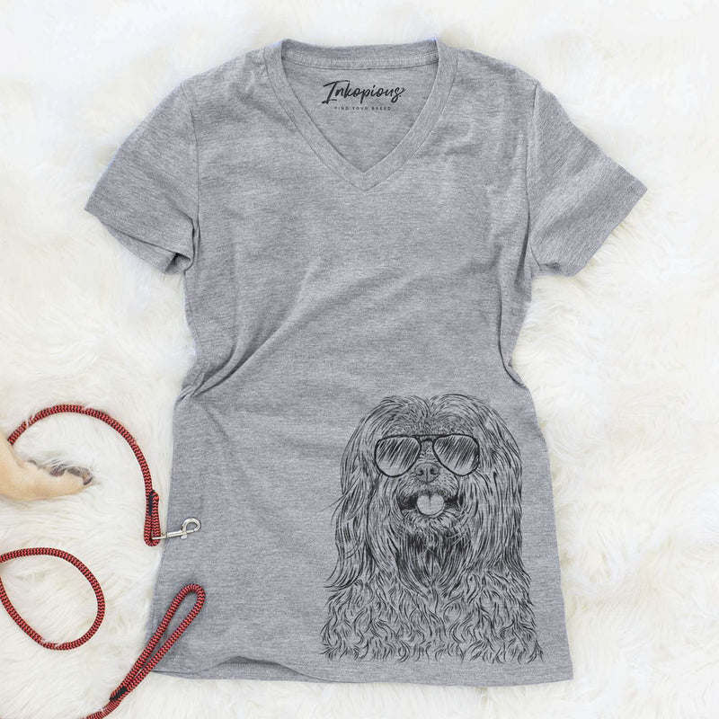 Annie the Mixed Breed - Women's Modern Fit V-neck Shirt