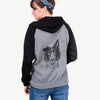 Archie the Silken Windhound - Unisex Raglan Zip Up Hoodie