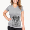 Bamboo the Leonberger - Women's Modern Fit V-neck Shirt