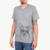 Bandit the Boston Terrier - Unisex V-Neck Shirt