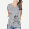 Baron the Bloodhound - Women's Modern Fit V-neck Shirt