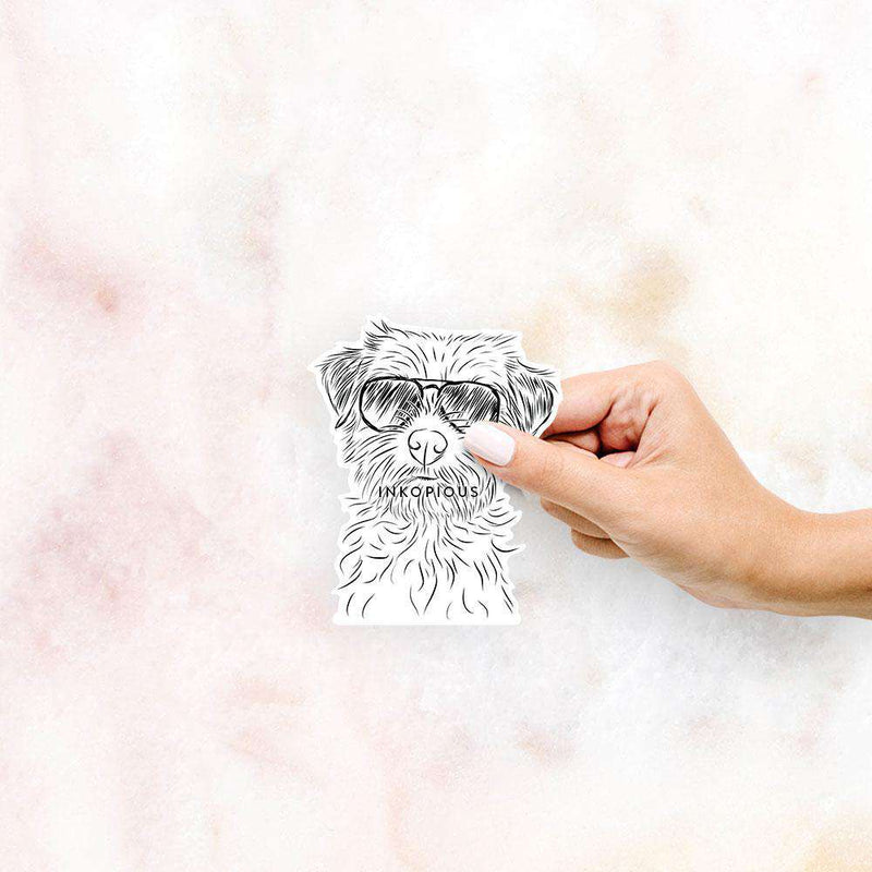 Benjamin the Border Terrier - Decal Sticker