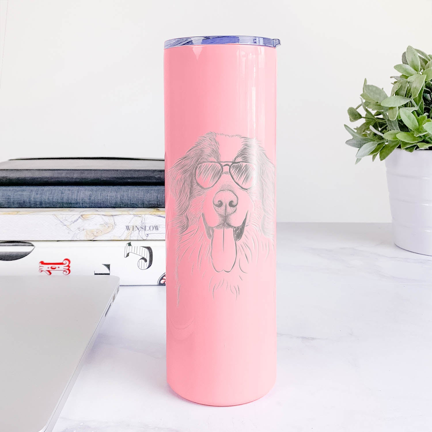 Blaze the Bernese Mountain Dog - 20oz Skinny Tumbler
