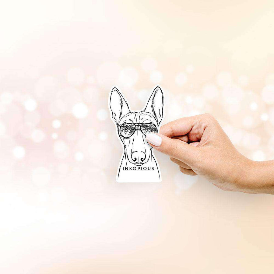 Bonsai the Basenji - Decal Sticker