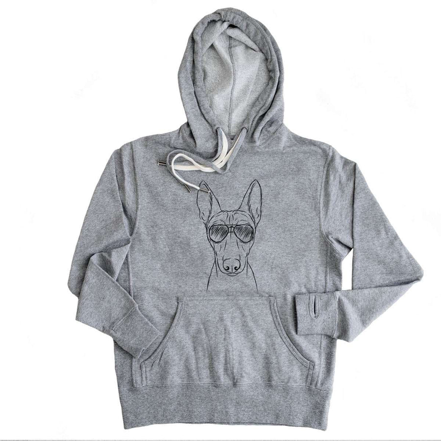 Bonsai the Basenji - Grey French Terry Hooded Sweatshirt