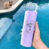 Bravo the Bulldog Mix - 20oz Skinny Tumbler