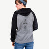 Brody the Old English Sheepdog - Unisex Raglan Zip Up Hoodie