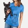Charlie the Basset Hound - Women's Modern Fit V-neck Shirt