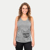 Chew Chew the French Bulldog - Racerback Tank Top