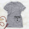 Chief the Boxer Bulldog Mix - Women's Modern Fit V-neck Shirt